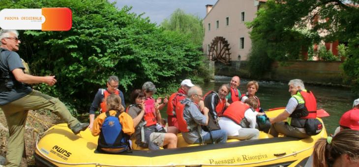 1 ott 2017: in easy rafting sino al Santuario del Noce a Camposampiero con Padova Originale